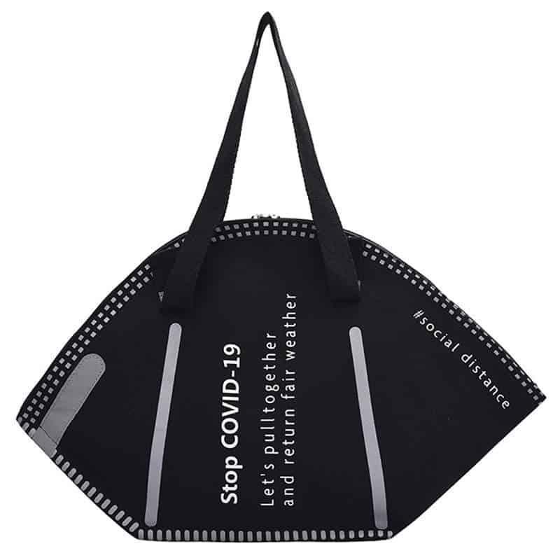 Handtasche zum Einkaufen, Shoppen - Design wie FFP2 Maske / Mundschutz