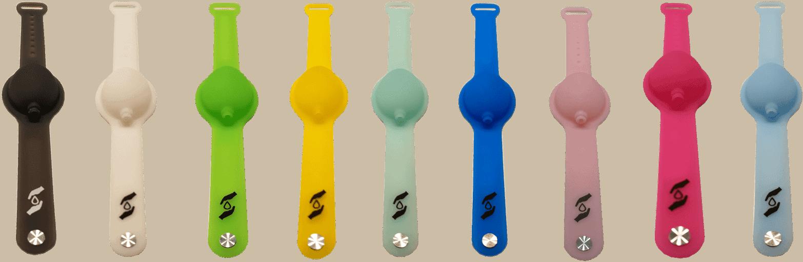 Desinfektionsarmbänder in alle Farben